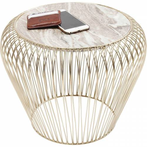 KARE Beistelltisch »Beistelltisch Beam Grau Marmor 43cm«