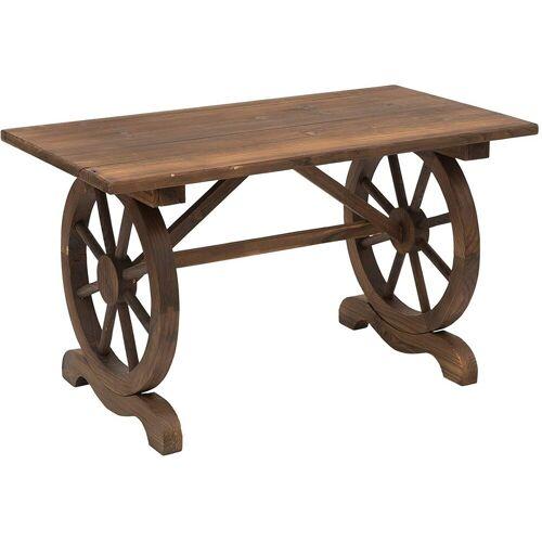 Outsunny Gartentisch »Gartentisch im Wagenrad-Design«