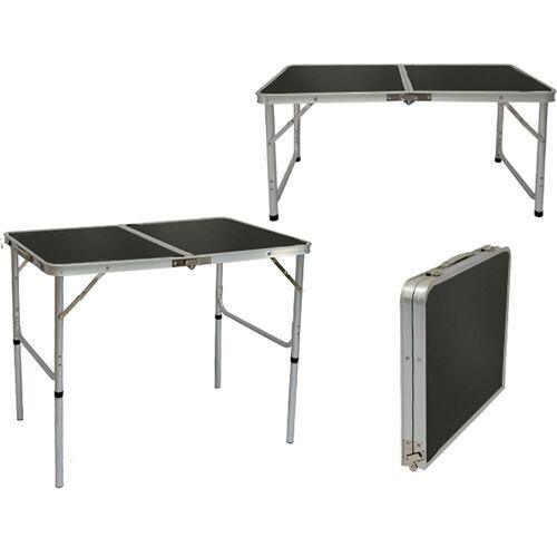 AMANKA Campingtisch »Klappbarer höhenverstellbarer Campingtisch Leicht«, 90x60x70 cm Reisetisch Grau