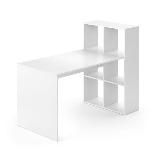 Vicco Regal-Schreibtisch »Schreibtisch Emir weiß Computertisch mit Ablage Regal Raumteiler Bürotisch«