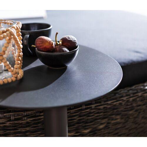 Dehner Gartentisch »Beistelltisch Mika, Ø 50 cm, Höhe 50 cm, Aluminium«