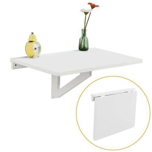 SoBuy Klapptisch »FWT03«, Wandklapptisch Küchentisch Esstisch, weiß   weiß