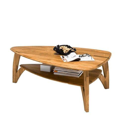 Pharao24 Couchtisch »Joana«, aus Massivholz, mit dreieckiger Tischplatte