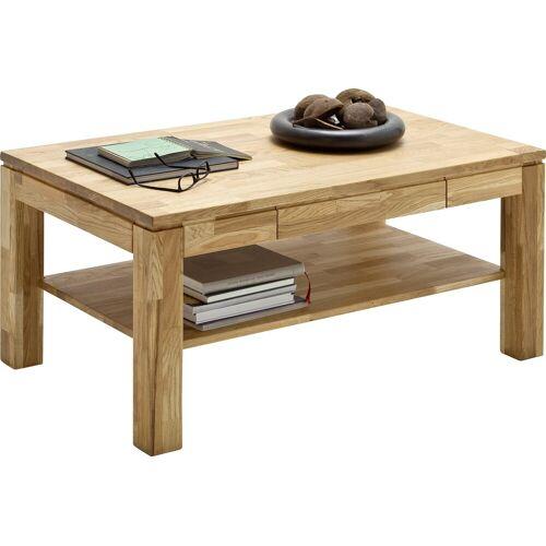 MCA furniture Couchtisch, Massivholztisch mit Ablage