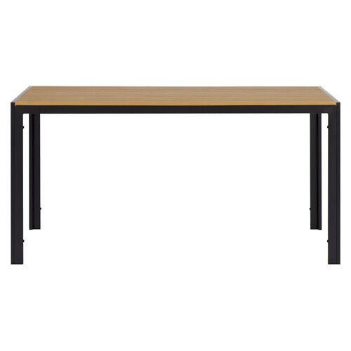 ebuy24 Gartentisch »Noma Gartentisch 150 x 90 cm, schwarz und teak Dek«