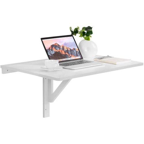 COSTWAY Schreibtisch »Klapptisch aus Holz 80x60cm«, Weiß