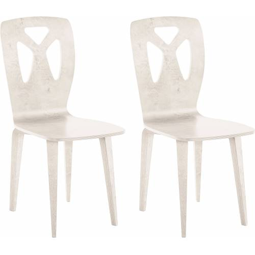 andas Stuhl »Karjal« im 2er Set, white wash   white wash   white wash