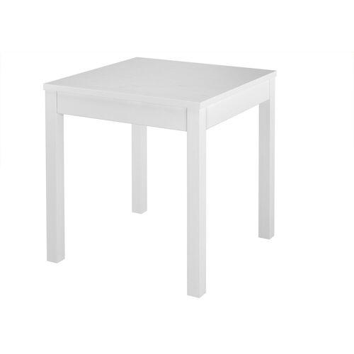 ERST-HOLZ Küchentisch »Tisch kleiner Esstisch Massivholztisch weiß Küchentisch Beine glatt 90.70-50 A W«