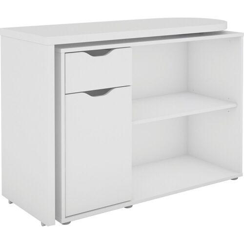 Homexperts Schreibtisch »Turner«, mit drehbarer Tischplatte, weiß