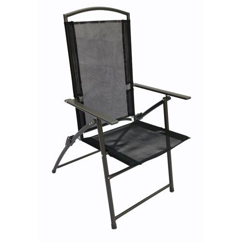 VCM Set Metall - Gartenstuhl verstellbar, 2 Stühle Anthrazit