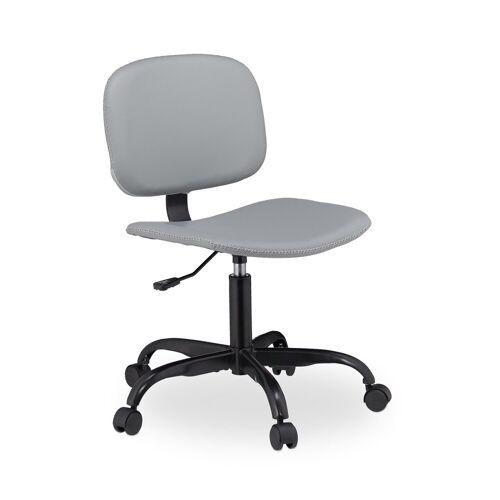relaxdays Schreibtischstuhl »Schreibtischstuhl grau mit Rollen«