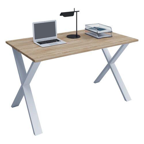 VCM Schreibtisch, B. 110 x T. 80 cm: Sonoma-Eiche