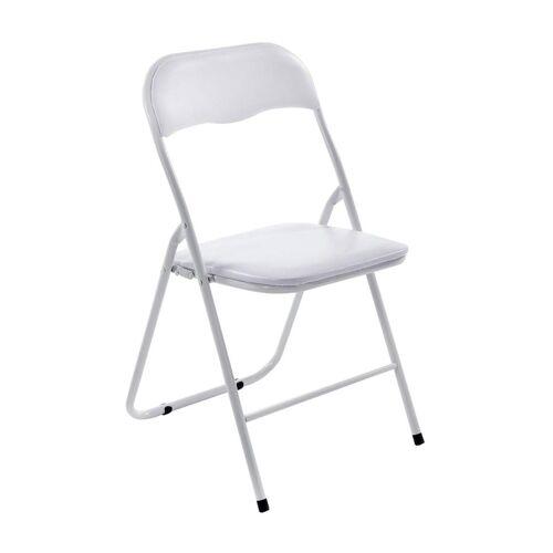 CLP Klappstuhl »Felix« Klappbarer mit Kunstleder PVC Sitz Gepolstert, weiß/weiß