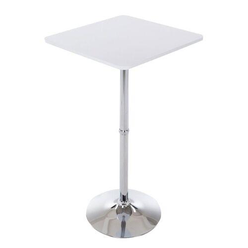 CLP Bartisch »Stehtisch eckig«, quadratischer Stehtisch Holz-Tischplatte, weiß