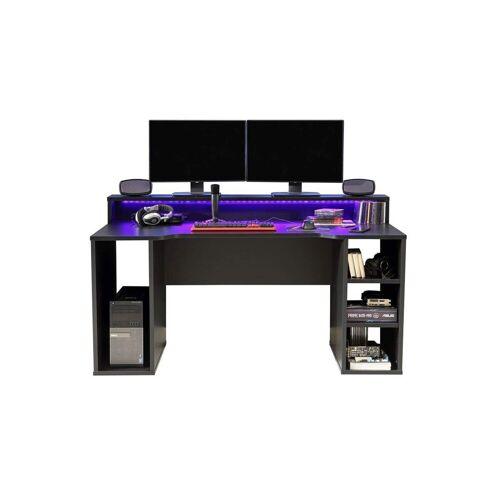 FORTE Gamingtisch »Computertisch TEZAUR 1B Gaming Desk mit LED Beleuchtung von «