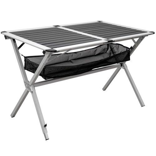 AMANKA Campingtisch »Campingtisch Alu Rolltisch mit Ablagenetz 111x71,5«, 110 x 71 x 71 cm Anthrazit