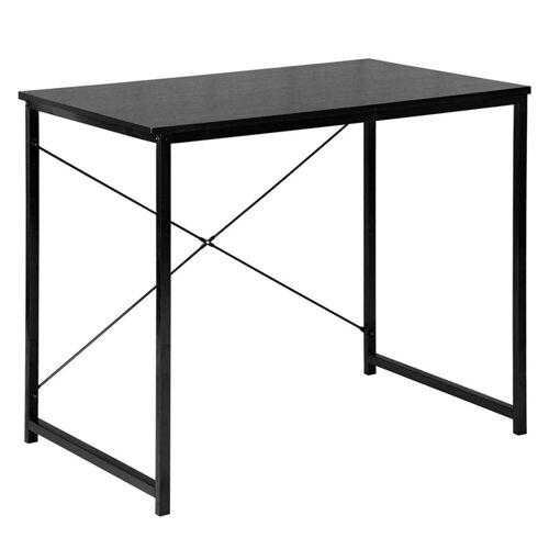 Woltu Schreibtisch, Schreibtisch im Desktop Design, schwarz