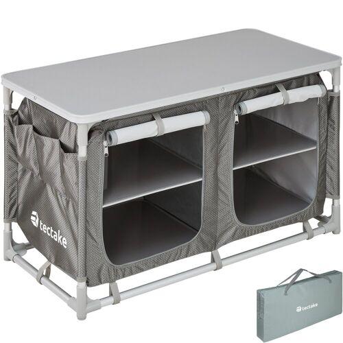 tectake Campingtisch »Campingküche 97x47,5x56,5cm« (1-St), grau