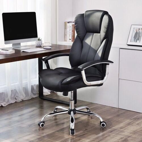 SONGMICS Chefsessel »OBG57B« Bürostuhl, Chefsessel, Drehstuhl, Computerstuhl, schwarz
