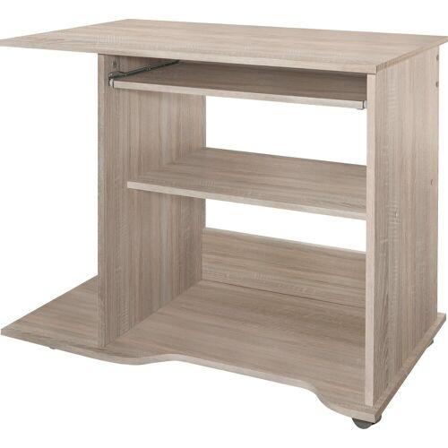 Computertisch, Eiche-Sägerauh   Eiche-Sägerauh   Eiche-Sägerauh