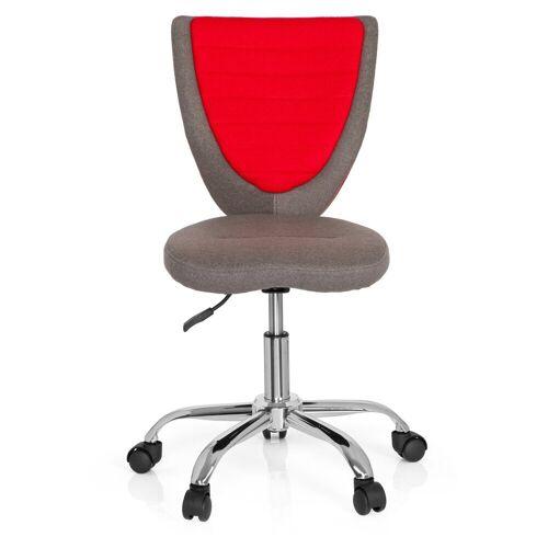 hjh OFFICE Drehstuhl »Kinderdrehstuhl KIDDY COMFORT«, Grau / Rot