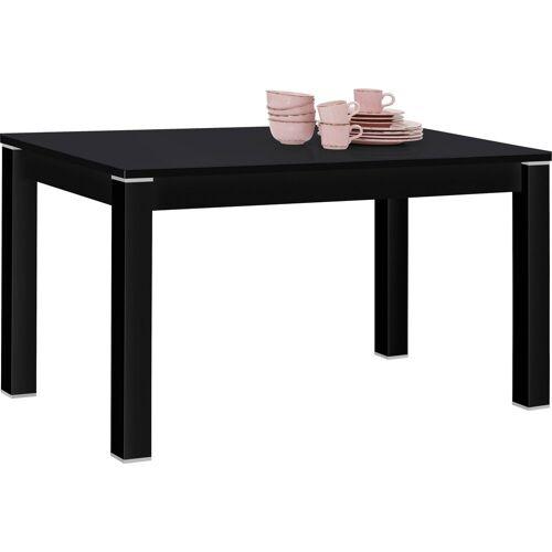Maja Möbel Esstisch »SHINO«, schwarz matt - Schwarzglas   schwarz matt   Schwarzglas