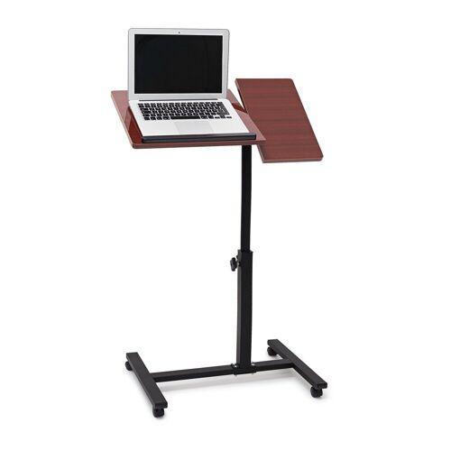 relaxdays Laptoptisch »Laptoptisch höhenverstellbar Holz«, Rot