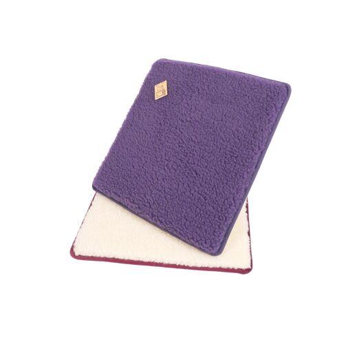 Licardo Sitzkissen »Sitzkissen Stuhlkissen 2er Pack Wolle 37 x 40 cm«, lila