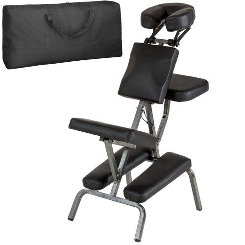tectake Massagesessel »Massagestuhl aus Kunstleder« (1-St), schwarz