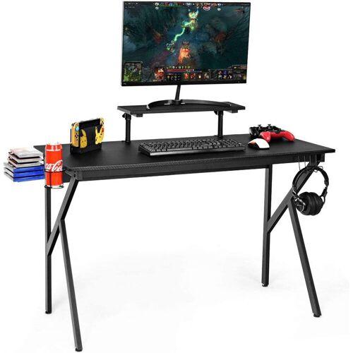 COSTWAY Computertisch »Computertisch«, mit Monitorablage, schwarz