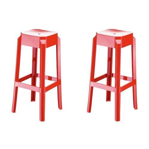 CLP Barhocker »Fox« (Set, 2er), aus hochwertigem Kunststoff, rot