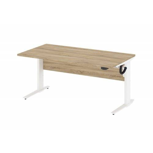 ebuy24 Schreibtisch »Prisme Schreibtisch A elektronisch heben/senken Ei«