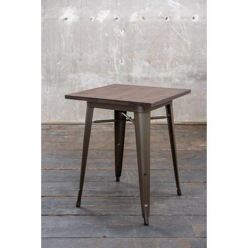 KAWOLA Esstisch »VILDA«, Bistrotisch Holz/Metall 60x60 cm