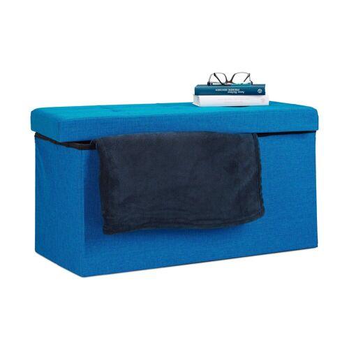 relaxdays Sitzbank »Faltbare Sitzbank Leinen«, Blau