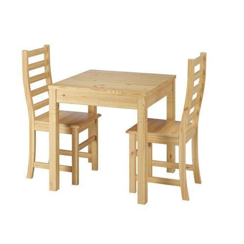 ERST-HOLZ Essgruppe »Essecke mit Tisch und 2 Stühle Kiefer natur Massivholz 90.70-50 B -Set 21«