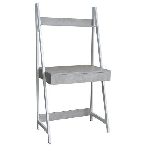 HTI-Line Schreibtisch »Schreibtisch Elora«, Schreibtisch, Weiß Beton