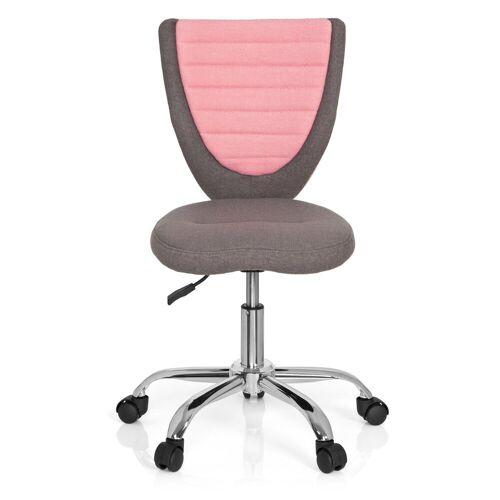 hjh OFFICE Drehstuhl »Kinderdrehstuhl KIDDY COMFORT«, Grau / Pink