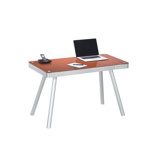 Vaja Möbel Kinderschreibtisch »Schreibtisch Schreibtisch Alu/ Glas rot«