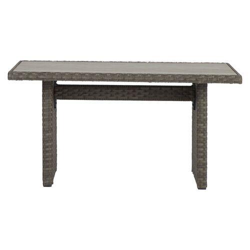ebuy24 Gartentisch »Oris Gartentisch 140 x 74 cm, grau und hellgrau.«
