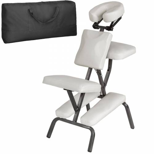 tectake Massagesessel »Massagestuhl aus Kunstleder« (1-St), weiß