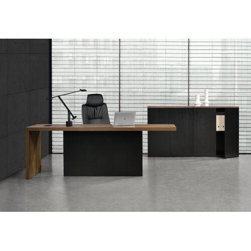 neu.haus Schreibtisch (Set, 3er Set), »Gent« Chefzimmer Set mit 2 Aktenschränken Büromöbel