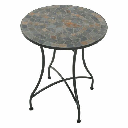 Raburg Gartentisch »Mosaiktisch MAYLA in BLAU/GRAU/BUNT - Gartentisch, rund, 60cm ø, Unikat mit Muster«