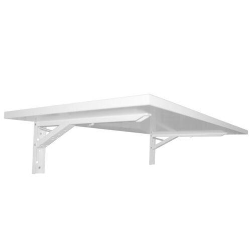 KDR Produktgestaltung Klapptisch »Wandklapptisch Klapptisch Schreibtisch Büro Homeoffice«, Weiß, Weiß