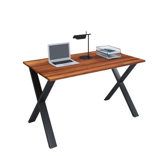 VCM Schreibtisch, B. 140 x T. 80 cm: Kern-Nussbaum