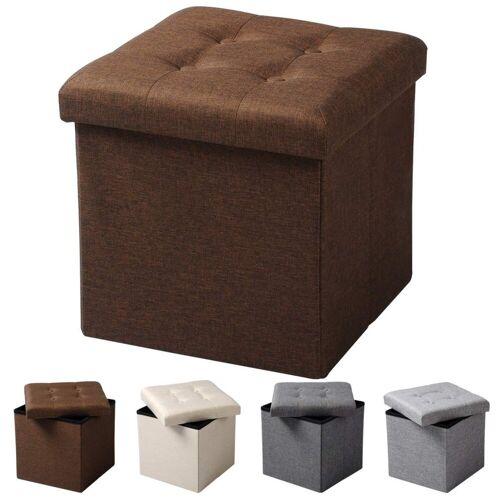 Woltu Sitzhocker, Sitzhocker Fußhocker mit Stauraum SH06, braun