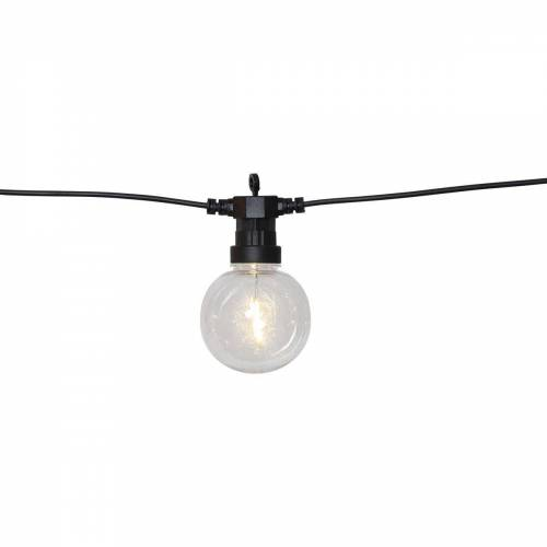 "STAR TRADING LED-Lichterkette »LED Lichterkette ""CIRCUS"" - 10 Kugeln, D: 8cm - warmweiße Filament LED - 4,5m - inkl.Trafo - outdoor«"