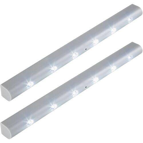 tectake LED Lichtleiste »2 LED-Lichtleisten mit Bewegungsmelder«