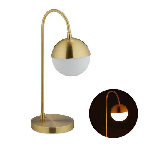 relaxdays Tischleuchte »Tischlampe Kugel in Gold«