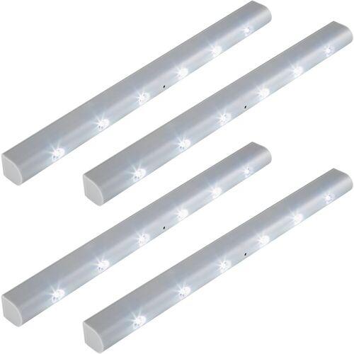 tectake LED Lichtleiste »4 LED-Lichtleisten mit Bewegungsmelder«