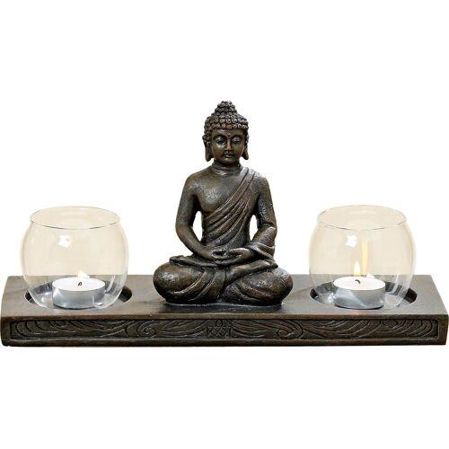 """BOLTZE Teelichthalter »Windlichthalter """"Buddha"""" L32 cm«"""